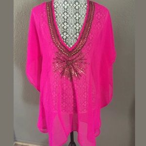 Spiaggia dolce swimwear cover-up pink XL